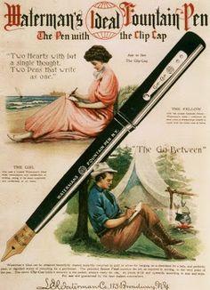 Terrific Waterman vintage illustration