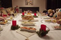 dogs-cat-dinner-table