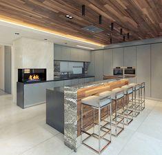 Amazing Kitchen Design Best Kitchen Designs, Interior Design Kitchen, Cool Kitchens, Amazing, Modern, Table, Furniture, Home Decor, Trendy Tree
