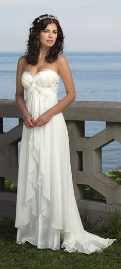 Al, is this a say yes to the dress kind of dress? Elegant Wedding Dress but I would make it modest