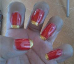 RED&GOLDEN #MisUñas
