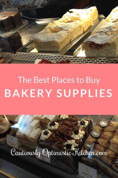 The Best Places to Buy Bakery Supplies - Cautiously Optimistic Kitchen - bakeryshops Bakery Business Plan, Baking Business, Cake Business, Business Ideas, Bakery Store, Bakery Cafe, Bakery Menu, Gourmet Bakery, Small Bakery