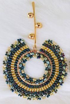 Big Bold Earrings, Handmade Beaded Dangle Earrings, Extra Large Handmade Emerald Green and Gold Seed Bead Disc Earrings Bullet Jewelry, Geek Jewelry, Gothic Jewelry, Gemstone Bracelets, Gemstone Earrings, Dangle Earrings, Earring Crafts, Jewelry Crafts, Pendant Jewelry
