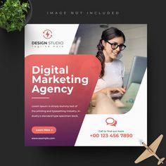 Digital business marketing social media ... | Premium Psd #Freepik #psd #banner Social Media Poster, Social Media Branding, Social Media Banner, Social Media Template, Social Media Design, Social Media Graphics, Graphic Design Flyer, Corporate Design, Flyer Design