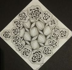 "Learning to tangle with Zentangle®: Diva's Weekly Challenge #247: ""UMT: African Artist"""
