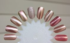 Ah, rose gold! Such a lovely and popular color, isn't it? I have many rose golds and they are all pretty different from each other, so I thought I'd show some comparisons of them! Left to right: Sa...
