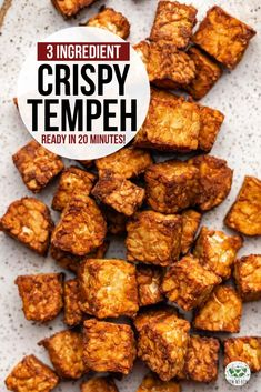 Easy Baked Tempeh Ingredients + SO Crispy!) – From My Bowl This crispy baked tempeh comes together in only 30 minutes! A perfect vegan & gluten-free plant protein to serve on salads, grain bowls, and more. Seitan, Tempeh Recipes Vegan, Vegetarian Recipes, Healthy Recipes, Whole Food Recipes, Cooking Recipes, Cooking Tips, Food Tips, Veggies