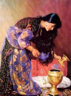 Beautiful Kurdish panting!