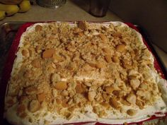 my banana pudding cake i made, also tried choc cake with oreo pudding with cool whip and crushed oreos for oreo cake.. thanks for the idea mom dawn....