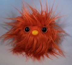 Furry Monster Plush - 4 Orange Coodle. $10.00, via Etsy.