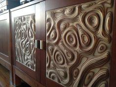 "TV cabinet doors inserts ""Liquid plywood style"" - by bonitum @ LumberJocks.com ~ woodworking community"