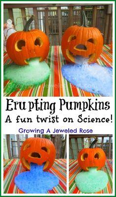 Erupting Pumpkins Experiment for Kids- a fun Fall twist on Science!