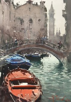 "Joseph Zbukvic, ""Venice"" - 14x10, watercolor on paper - at Principle Gallery"