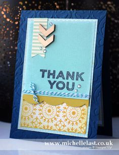 Handmade thank you card using Stampin Up supplies by Michelle Last
