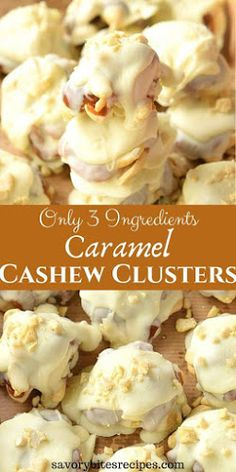 christmas candy Try this recipe of easy and best Caramel Cashew Clusters- delicious cashew clusters made with just 3 ingredients. The best homemade Holiday / Christmas gifting idea you can try to surprise and share with your friends and family. Easy Chocolate Desserts, Easy Desserts, Delicious Desserts, Holiday Baking, Christmas Baking, Chocolate Clusters, Christmas Snacks, Family Christmas, Christmas Time