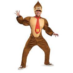 Adult Deluxe Donkey Kong Costume – Super Mario Bros.  #supermariobros #costumes #videogamecharacters