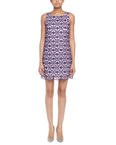 Erin Fetherston Amethyst Embroidered Organza Pansy Dress | Center Back Zipper, Approx. 34 inches from shoulder to hem