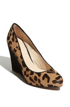 Had to order from Nordstorms in Hawaii...but they are MINE! Leopard print calf hair wedge:)
