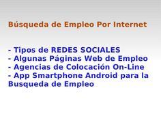 presentacin-busqueda-de-empleo-por-internet by Francisco J. Lafuente via Slideshare