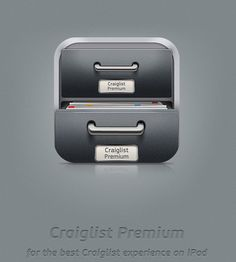 Craigslist Premium iPad UI design by Vadim Sherbakov, via Behance