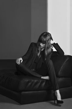 Freja Beha Erichsen by Hedi Slimane for Saint Laurent Pre-Fall 2013 ad