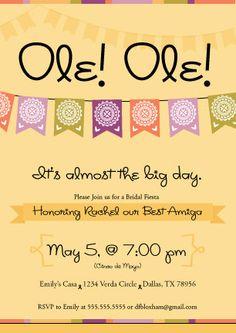 CInco de Mayo invitation idea