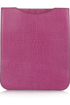 Croc-embossed leather iPad sleeve for the tech-savvy #bridesmaid