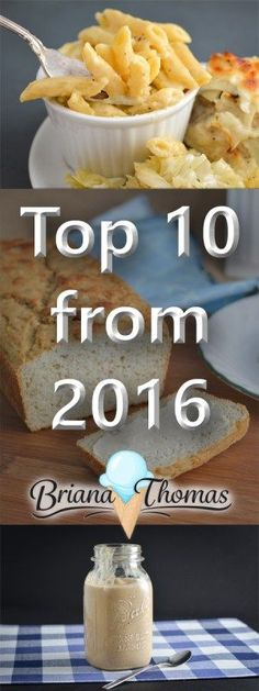 Here they are!  The top 10 recipes from 2016 on my blog, www.briana-thomas.com!  THM friendly