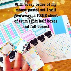 Every order of my pastel mouse set will get a sheet of free tsum tsum boxes!!! Who doesn't love tsum tsum stickers especially free ones!! No code needed will be automatically added to your package :) link in bio :) #plannercommunity #plannergeek #disneyplanner #happyplanner #happyplanneraddict #thehappyplanner #happyplannerstickers #erincondren #weloveeclp #eclp #plannergeek #plannernerd #plannerstickers #etsystickers #ukplanneraddicts #ukplannergirls #filofax #kikkik #websterspages #planner…