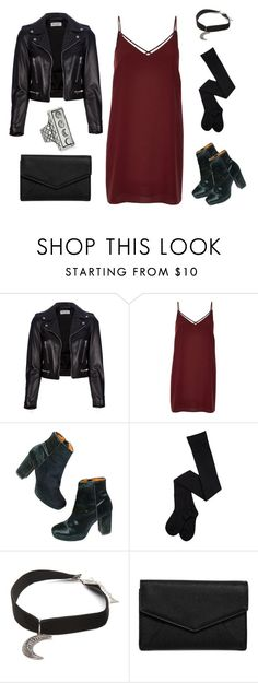 """""""Untitled #58"""" by sunnydaze-d ❤ liked on Polyvore featuring Yves Saint Laurent, River Island, Madewell, Gypsy Warrior, LULUS, Pamela Love, StreetStyle, Leather, Boots and slipdress"""