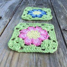 Dahlia flower square   Crochet Millan