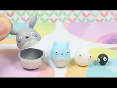 Totoro Nesting Dolls Polymer Clay Tutorial - YouTube MY idea would be to do this with disney themes