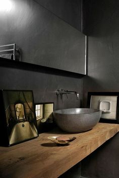 dark bathroom (via Molteni Motta | Maurizio Pecoraro) - my ideal home...