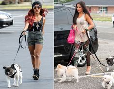 """Nicole """"Snooki"""" Polizzi and Jenni """"JWoww"""" Farley were seen out and about in New Jersey while filming the third season of their show on July 24, 2013."""