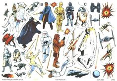 Letraset Star Wars dry transfer decals.