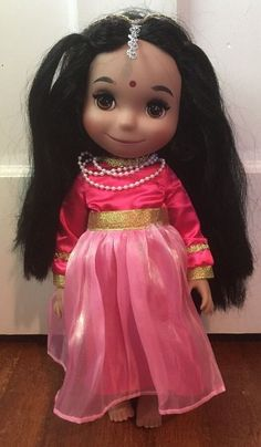 "Disney Store ""It's A Small World"" Animator East Indian India Singing Doll Works 