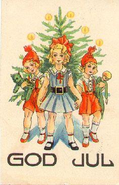 Lustigt gammalt julkort från 1933.