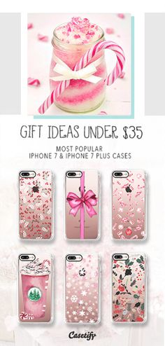It's almost Christmas. Shop our gift guide for the most popular under $35 iPhone 7 Cases and iPhone 7 Plus Cases gift ideas here > https://www.casetify.com/gift-guide/