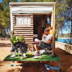""": """"Blue licking our plates clean after some lake swimm… - Van Life Astro Turf, Boys Life, Vw T, Truck Camper, Life Pictures, Rv Life, Back Gardens, Porch Swing, Tiny House"""