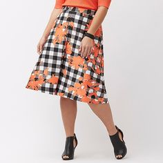 Spotted while shopping on Poshmark: NEW! Lane Bryant Printed A-Line Skirt Plus Size! #poshmark #fashion #shopping #style #Lane Bryant #Dresses & Skirts