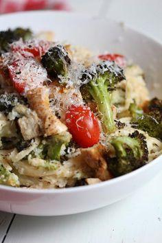 Chicken Recipes : Healthy Fettucine Chicken Alfredo