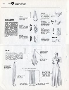 Academy of Art Character and Creature Design Notes: Famous Artist's Cartoon Course: Lesson Clothes and Folds, Faltenwurf Drawing Lessons, Drawing Techniques, Drawing Tips, Art Lessons, Drawing Reference, Illustration Mode, Illustrations, Techniques Couture, Look Fashion