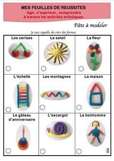 Des formes et des noms en pâte à modeler. | ecole | Pate a modeler, Projet de classe, Maternelle