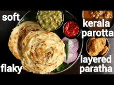 soft & flaky layered kerala parotta recipe no egg | കേരള പൊറോട്ട | malabar porotta recipe - YouTube Egg Paratha, Indian Bread Recipes, Kurma Recipe, Food Videos, Recipe Videos, Paratha Recipes, South Indian Food, Recipe Steps, No Calorie Foods