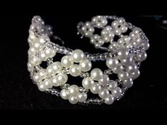 Beautiful pearl bracelet and beads ... Class # 25 !!! - YouTube