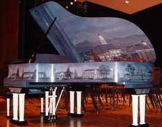 Steinway painted for JMU's 2008 Centennial Celebration--this is awesome! Always, have wanted to play on one.. Maybe, one day!!