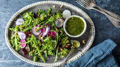 Salat med aspargesbønner og sennepsdressing Avocado Toast, Breakfast, Food, Morning Coffee, Essen, Meals, Yemek, Eten