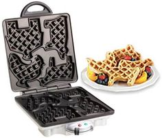 Fun breakfast food: Farm animal waffle iron..this would be so cute to do with quentin...