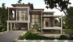 Small House Design, Modern House Design, Small Modern Home, Home Interior Design, Architecture Design, House Plans, New Homes, House Styles, Container Houses