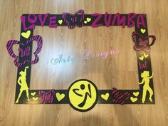 Zumba photo booth frame Spa Birthday, Birthday Parties, Neon Party Decorations, Zumba Kids, Zumba Party, Gymnastics Party, Zumba Instructor, Photo Booth Frame, Work Party